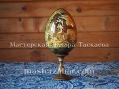 Росписное яйцо по мотивам русских народных сказок